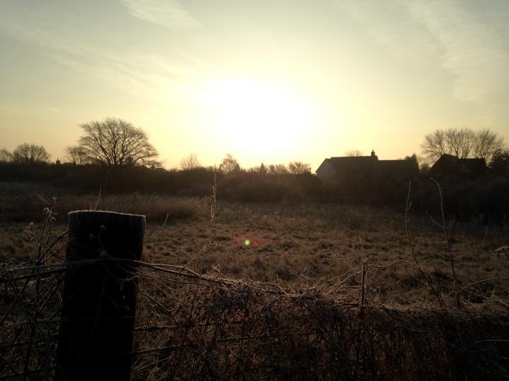 Sunrise over thevillage