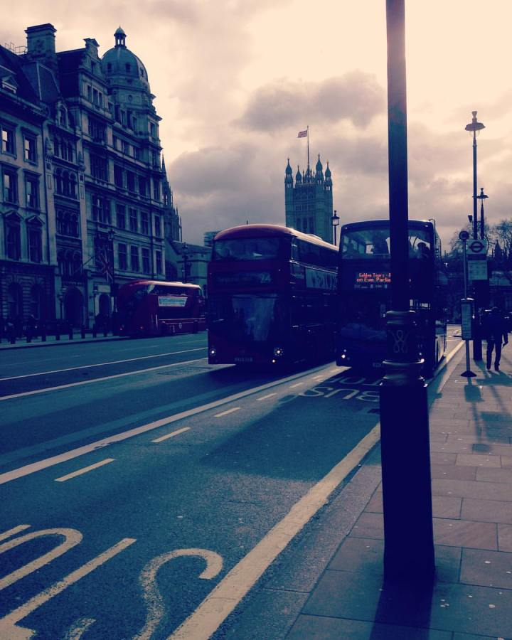 The red buses of Westminster
