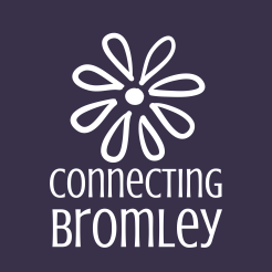 ConnectingBromley_brandmark_reversed_ondarkpurple